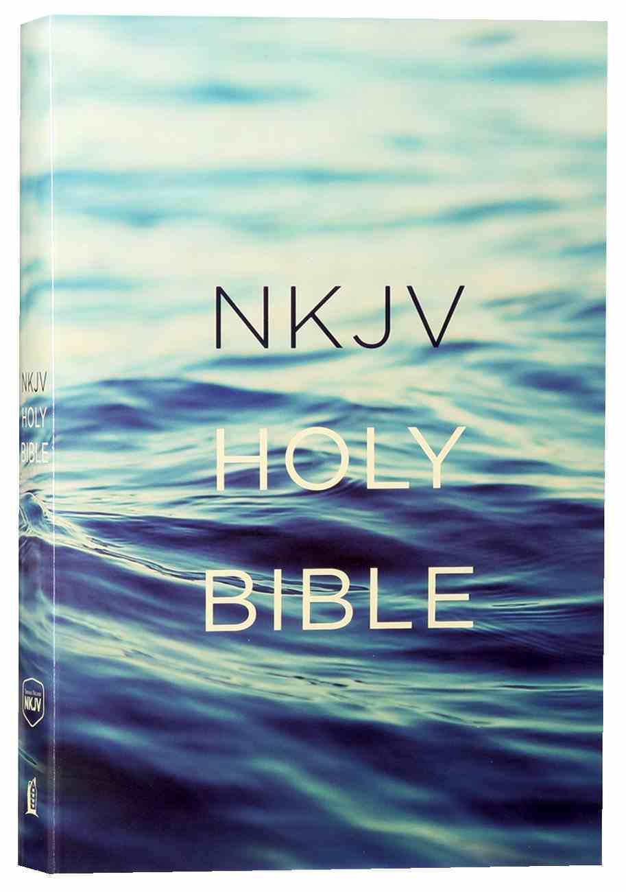 NKJV Value Outreach Bible Blue Ocean Scenic Paperback