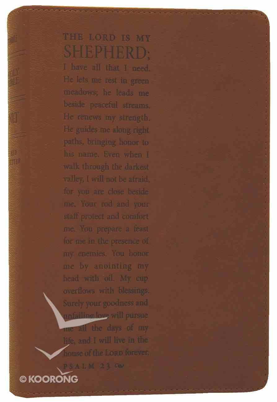 NLT Slimline Reference Bible Psalm 23 Chestnut (Red Letter Edition) Imitation Leather