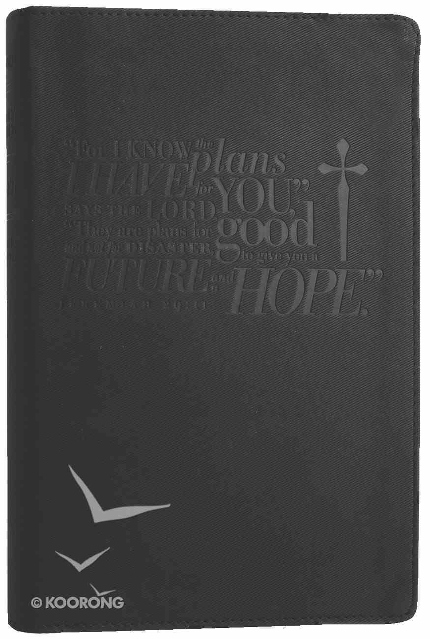 NLT Slimline Reference Bible Jeremiah 29: 11 Ebony (Red Letter Edition) Imitation Leather
