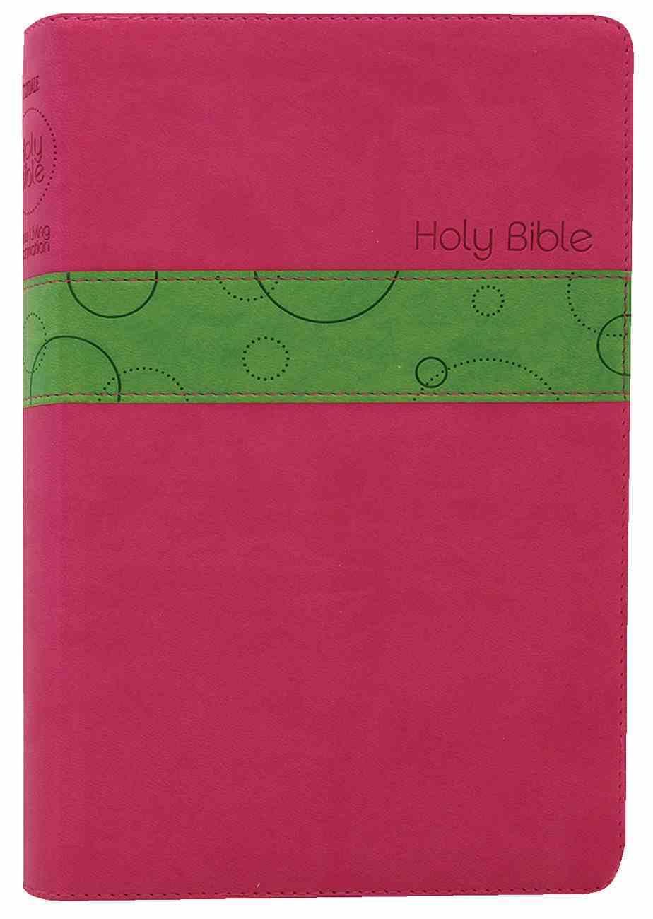 NLT Premium Gift Bible Bubblegum/Pistachio (Red Letter Edition) Imitation Leather