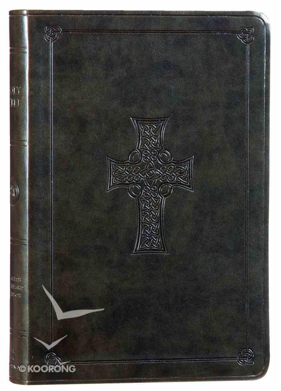 ESV Large Print Value Thinline Bible Olive Celtic Cross (Black Letter Edition) Imitation Leather