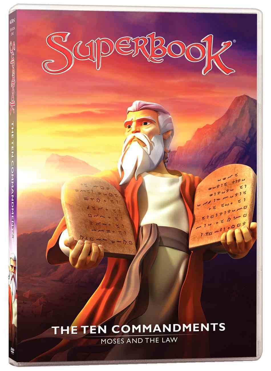 Ten Commandments, the - Moses and the Law (#07 in Superbook Dvd Series Season 01) DVD