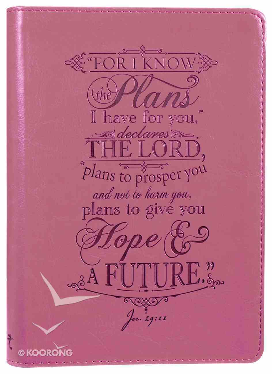 Classic Journal: For I Know the Plans Pink Luxleather Imitation Leather