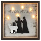 Christmas Mdf/Metal Light Up Shadow Box: All is Calm All is Bright Homeware