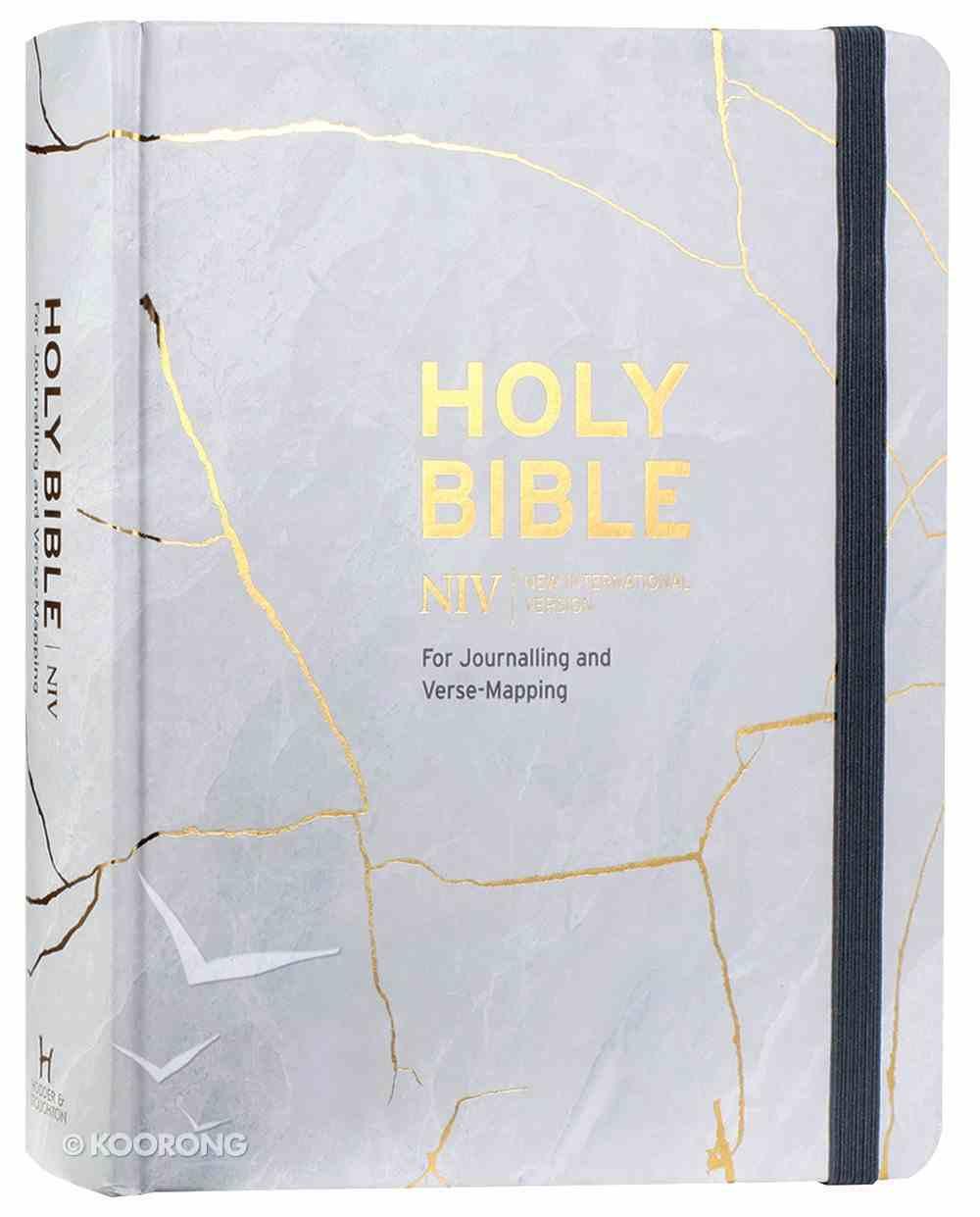 NIV Verse Mapping Bible Kintsugi Grey Hardback