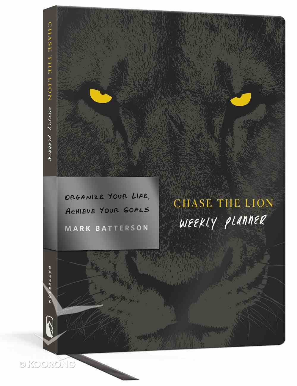 Undated Weekly Diary/Planner: Chase the Lion Flexi Back