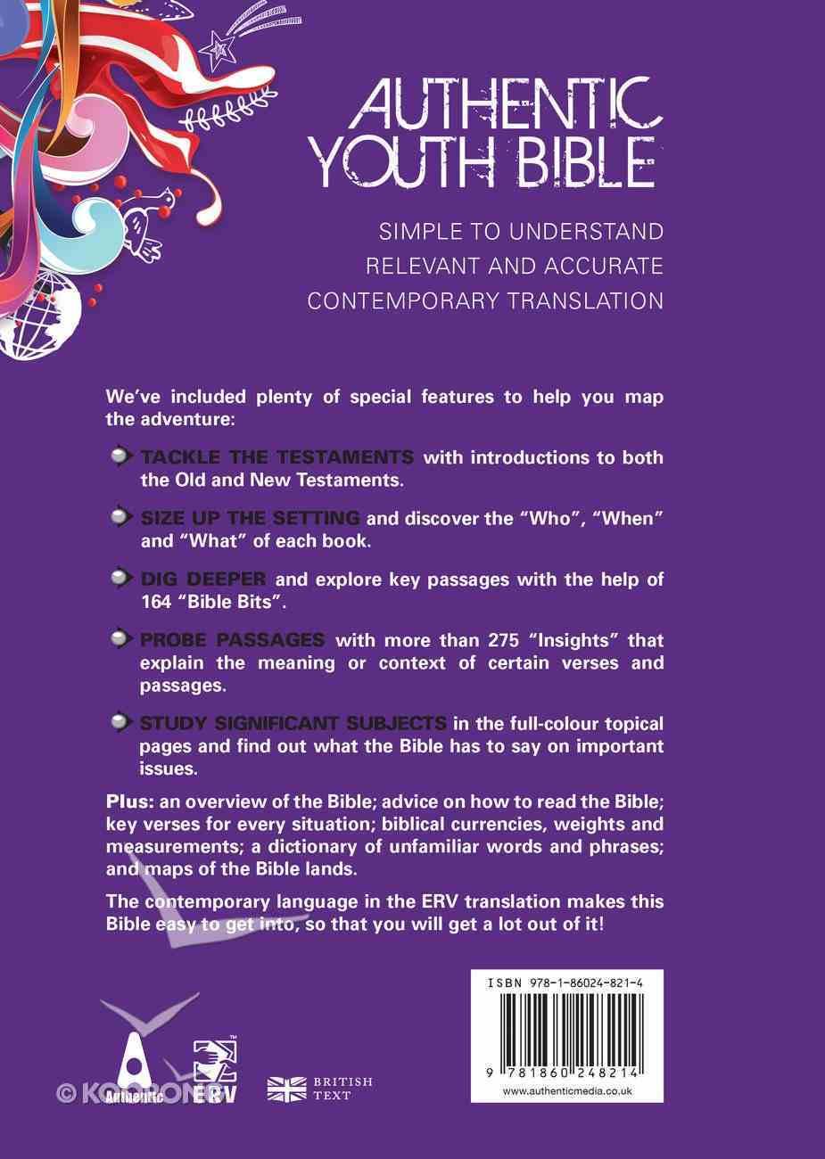 ERV Authentic Youth Bible Purple Hardback