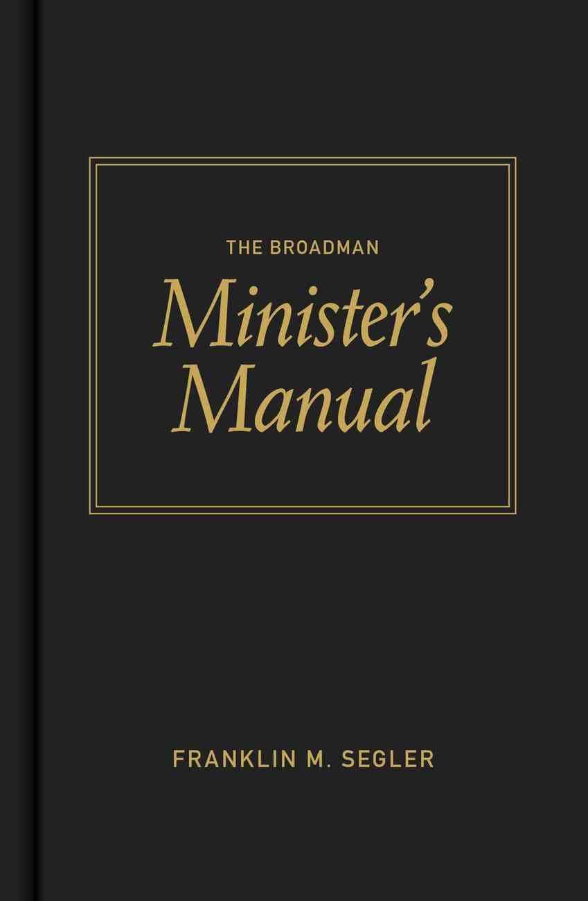 The Broadman Minister's Manual Hardback