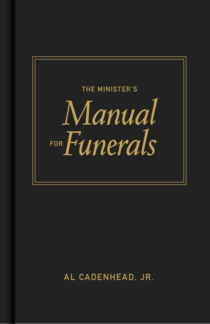The Minister's Manual For Funerals Hardback