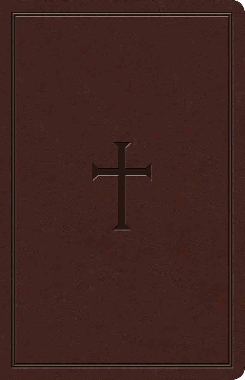 KJV Ultrathin Reference Bible Brown Indexed (Red Letter Edition) Imitation Leather