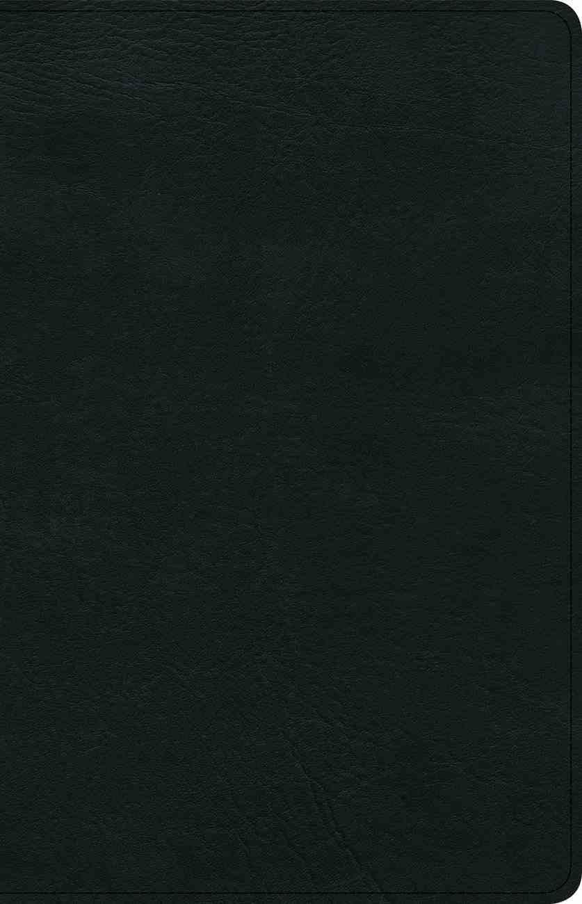 KJV Ultrathin Reference Bible Black (Red Letter Edition) Genuine Leather