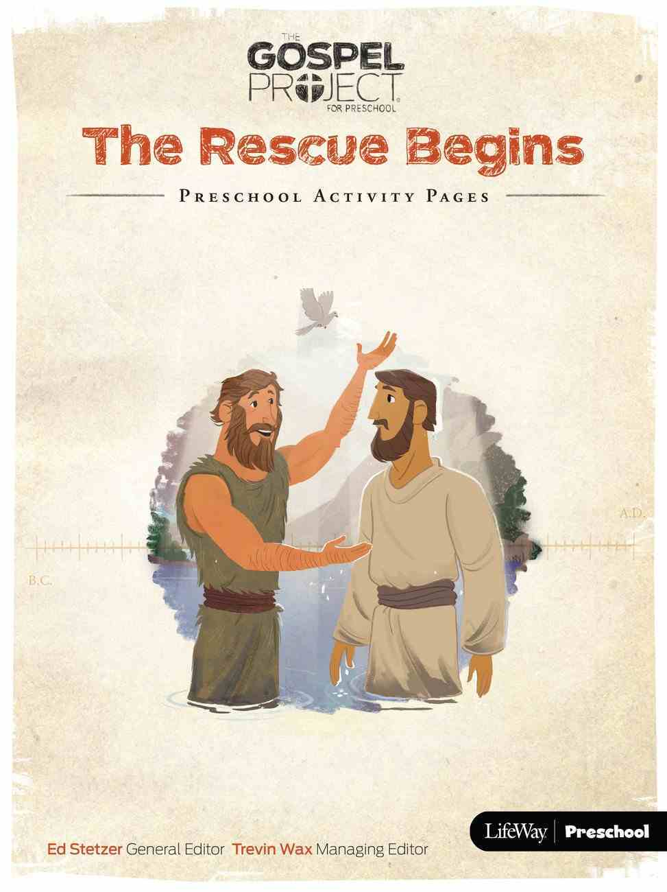 The Rescue Begins (Preschool Activity Pages) (The Gospel Project For Kids Series) Paperback