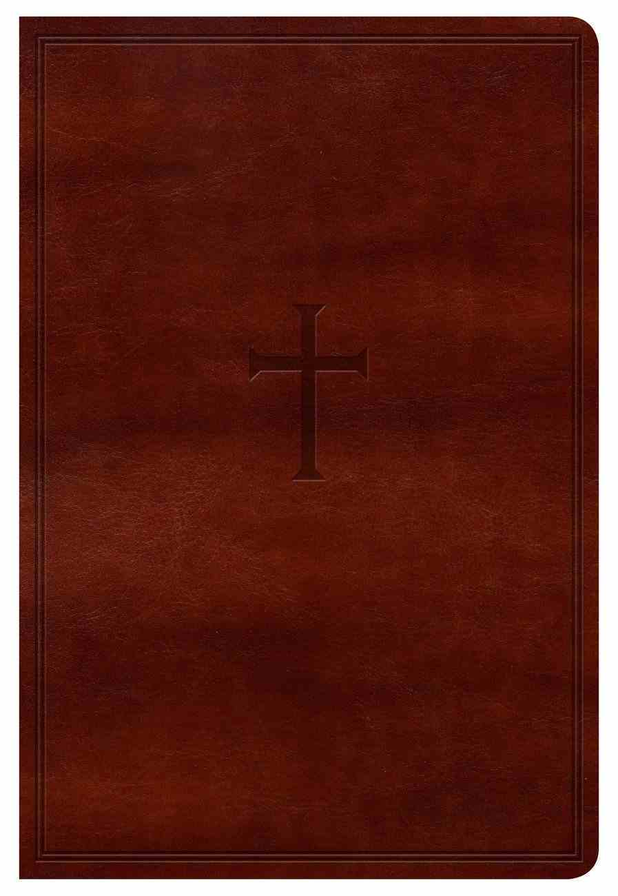 KJV Large Print Personal Size Reference Bible Brown Premium Imitation Leather