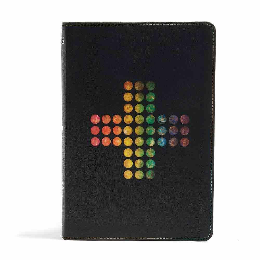 NIV Rainbow Study Bible Pierced Cross Imitation Leather