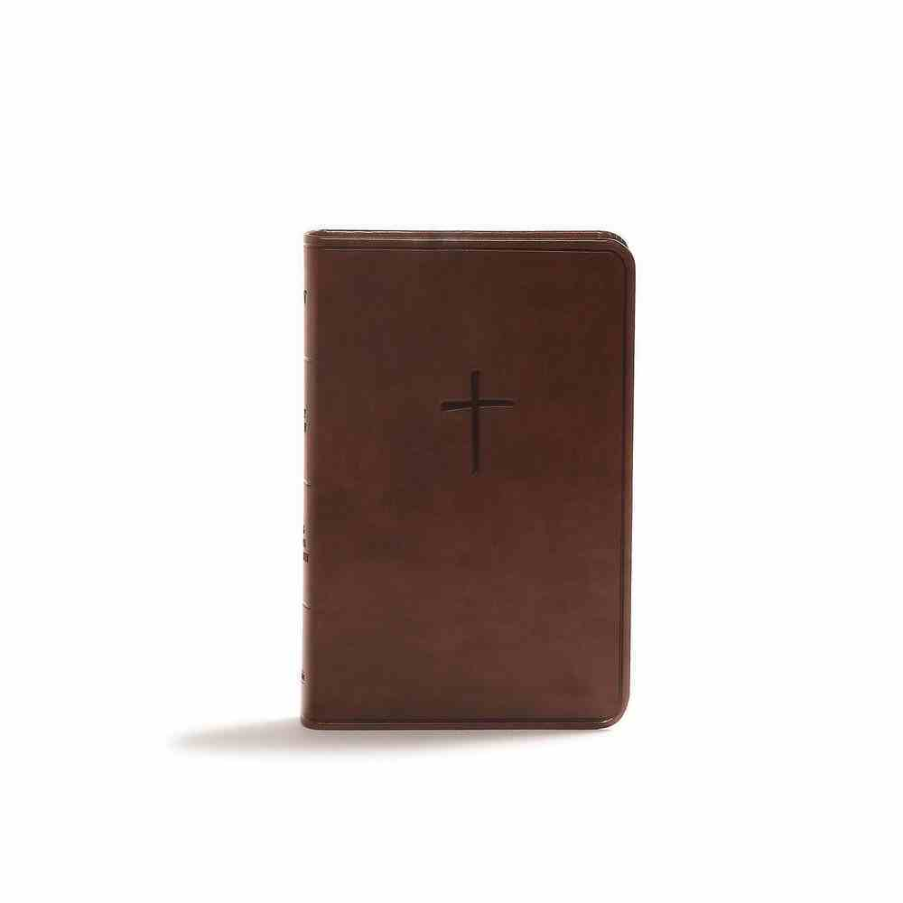 CSB Compact Bible Brown Value Edition (Red Letter Edition) Imitation Leather