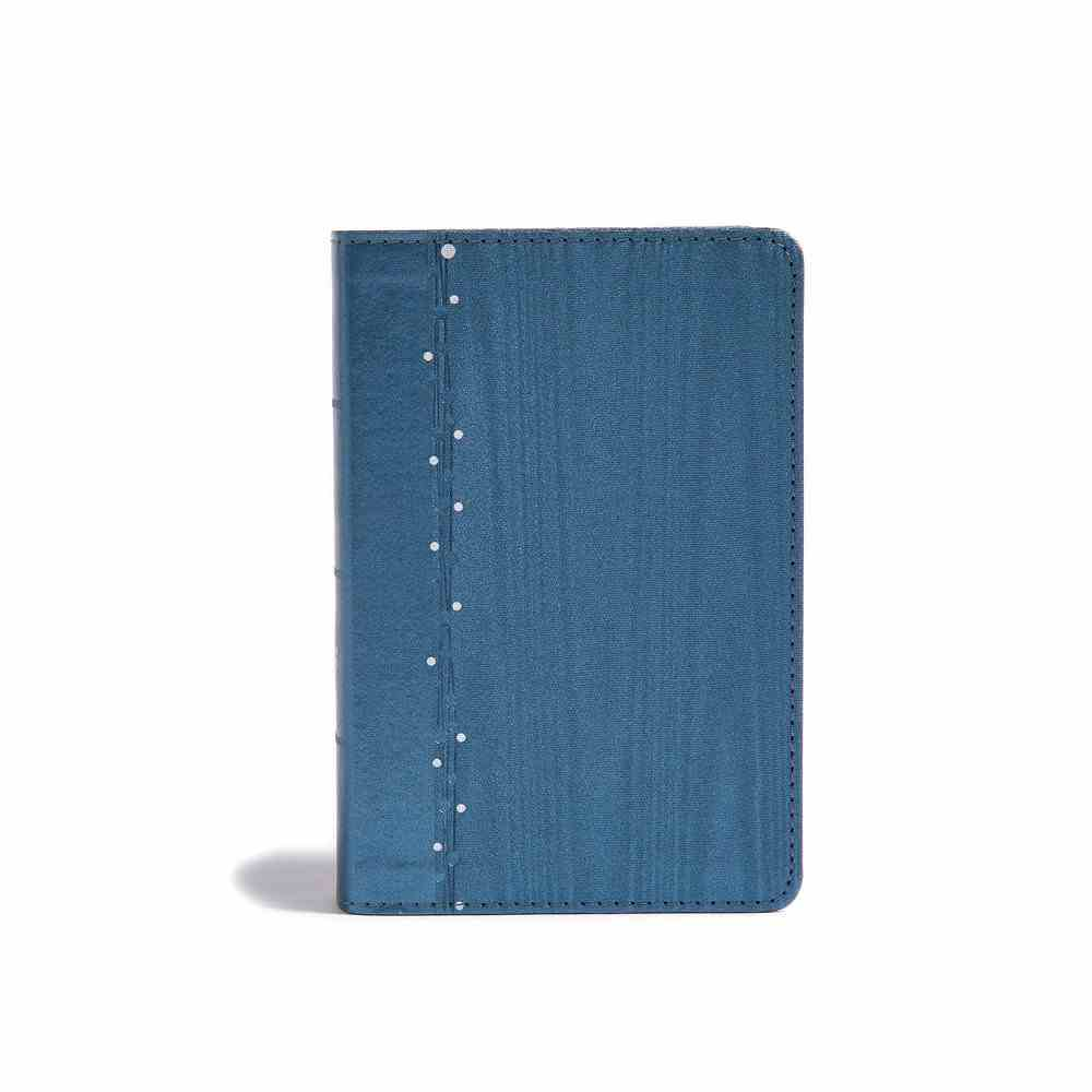 CSB On-The-Go Bible Slate Blue (Red Letter Edition) Imitation Leather