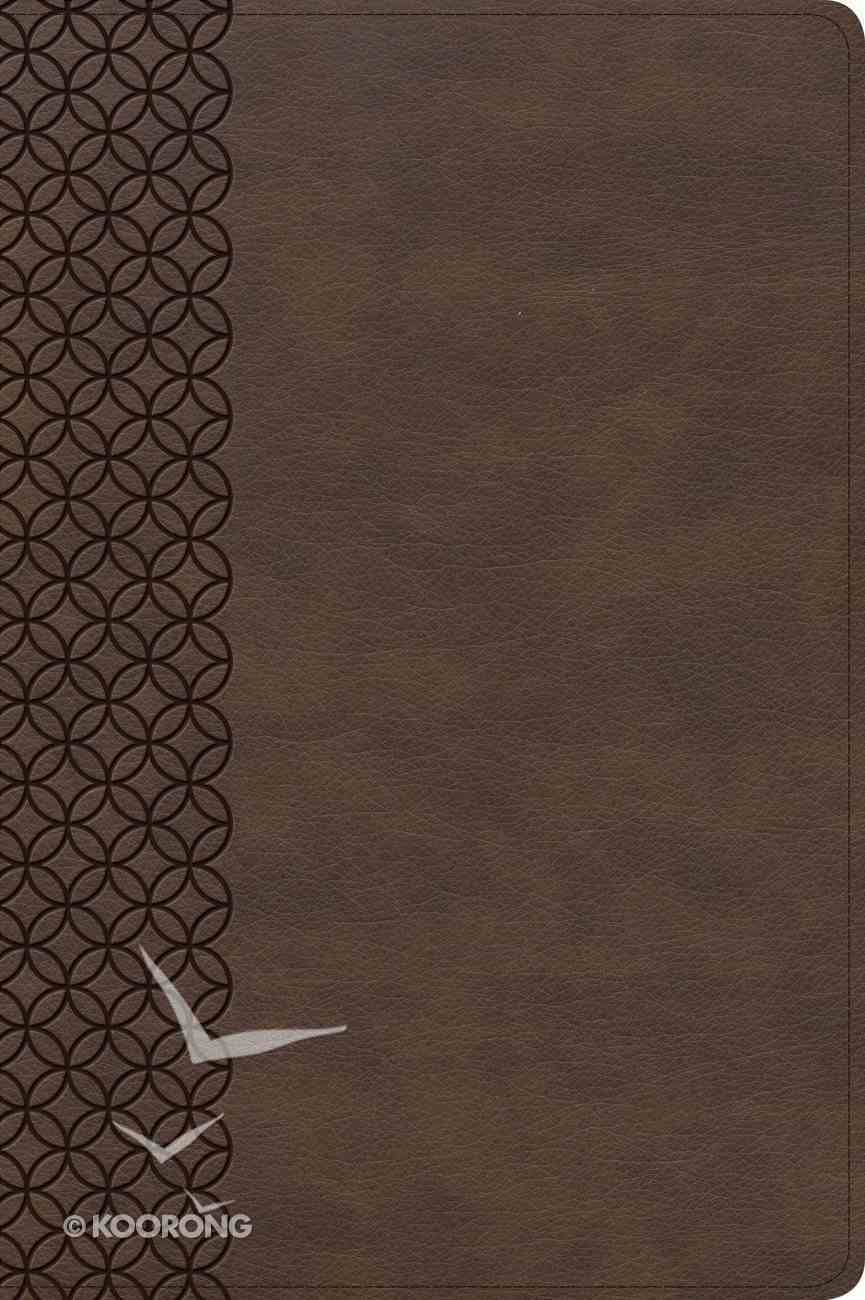 CSB Giant Print Center-Column Reference Bible Brown (Red Letter Edition) Imitation Leather