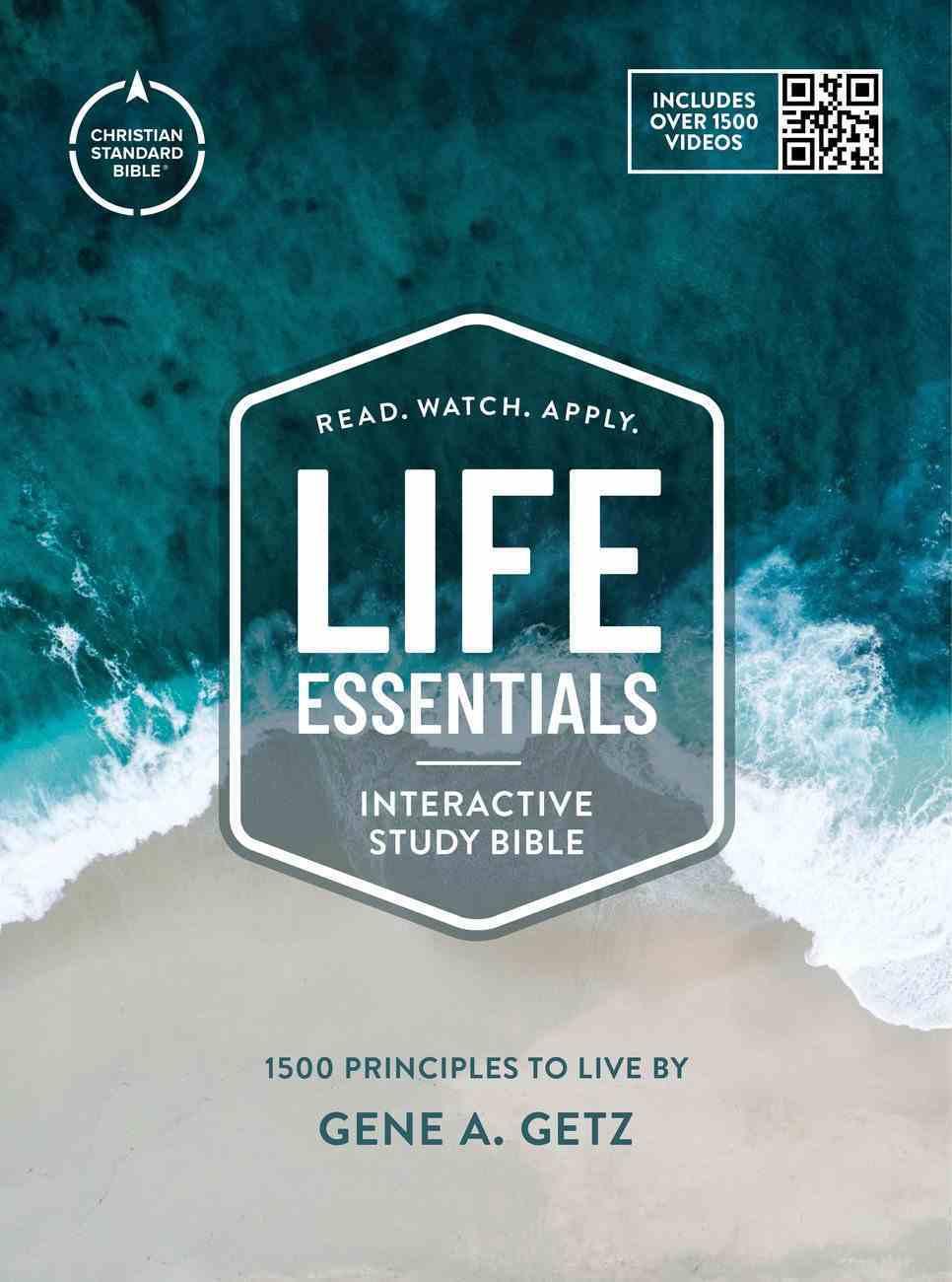 CSB Life Essentials Study Bible Tan/Blue (Black Letter Edition) Hardback