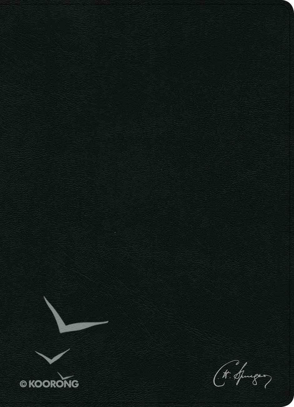 Rvr 1960 Biblia De Estudio Spurgeon Negro Genuine Leather