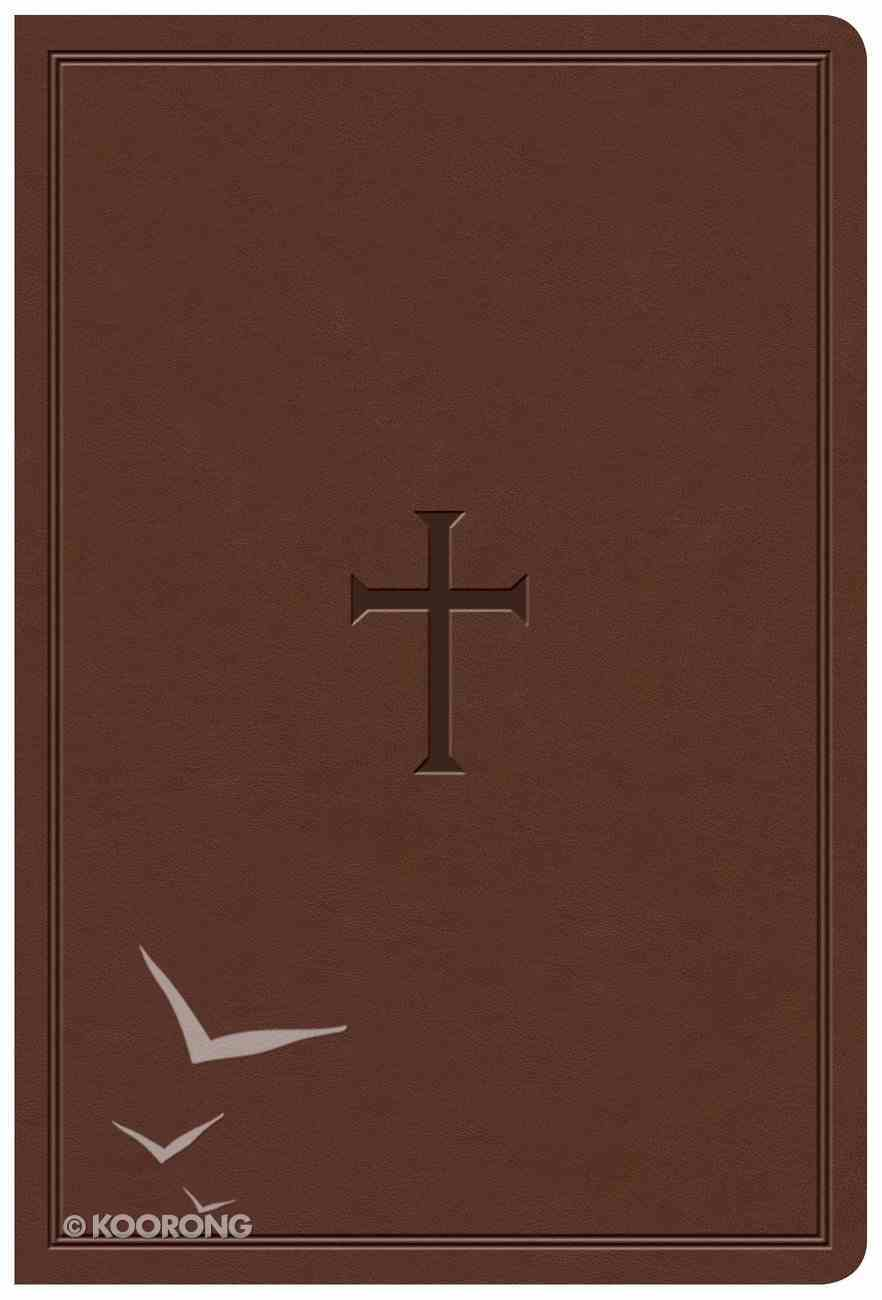 KJV Giant Print Reference Bible Brown Indexed (Red Letter Edition) Imitation Leather