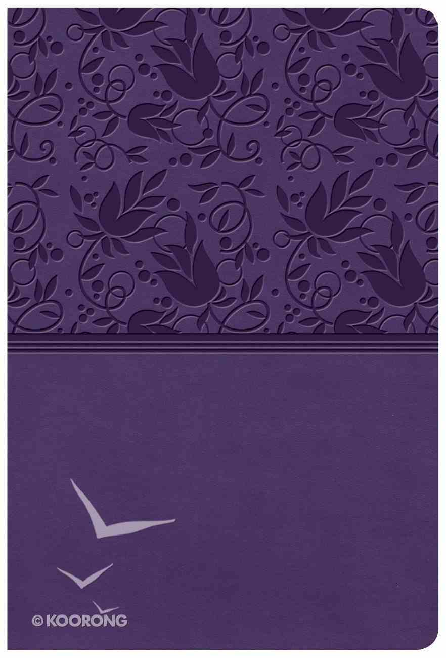 KJV Giant Print Reference Bible Purple Indexed (Red Letter Edition) Imitation Leather