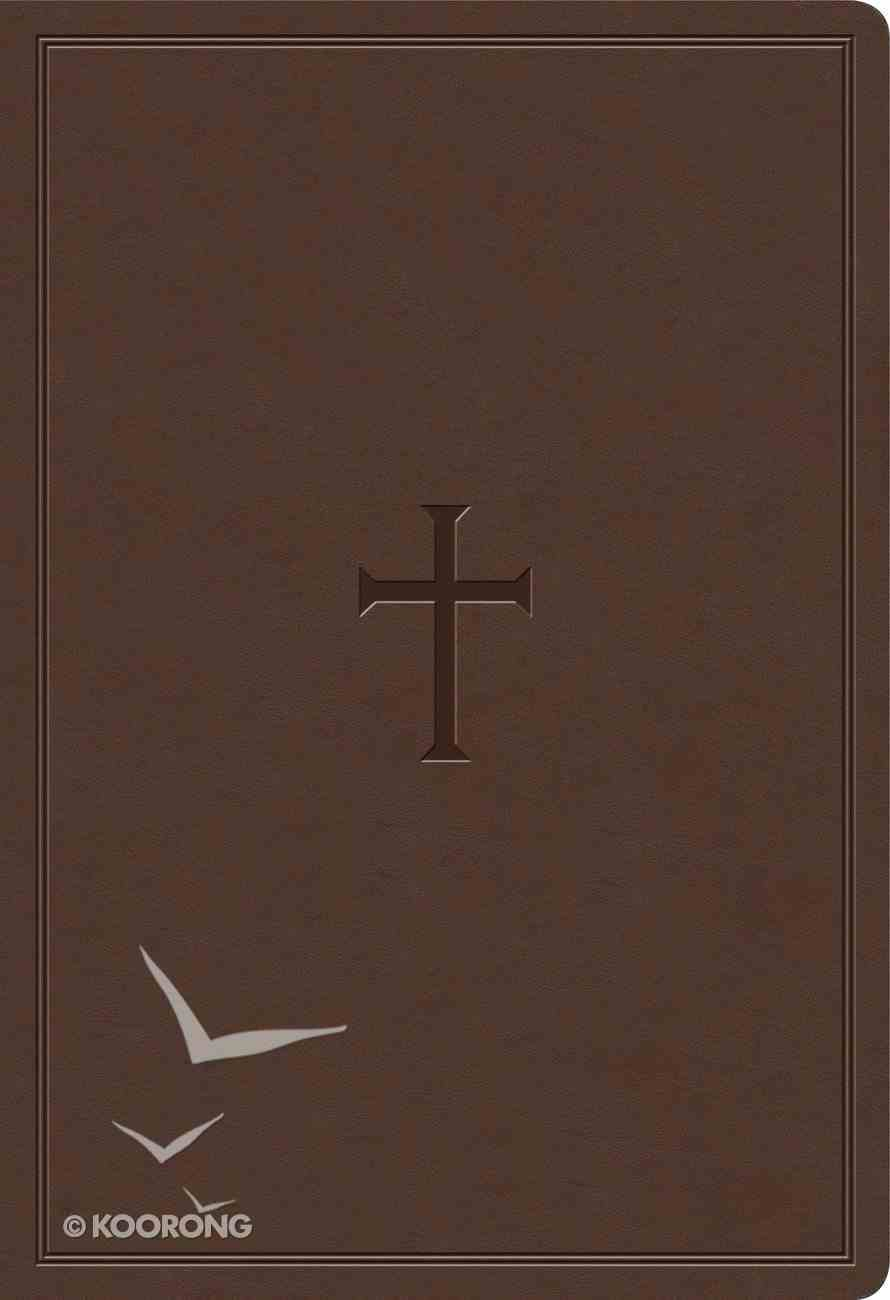 KJV Super Giant Print Reference Bible Brown Indexed (Red Letter Edition) Imitation Leather