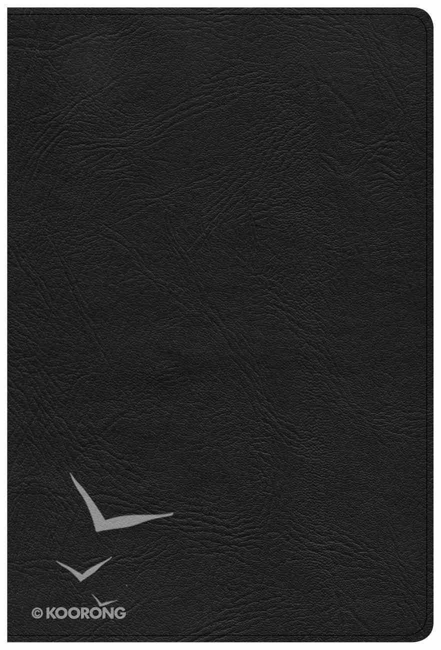 KJV Giant Print Reference Bible Black (Red Letter Edition) Genuine Leather
