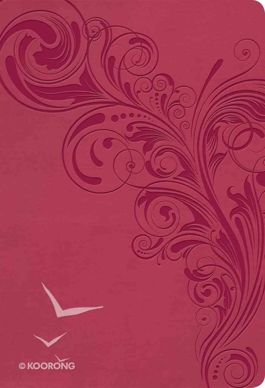KJV Super Giant Print Reference Bible Pink (Red Letter Edition) Imitation Leather