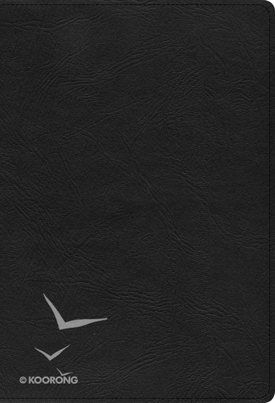 KJV Super Giant Print Reference Bible Black (Red Letter Edition) Genuine Leather