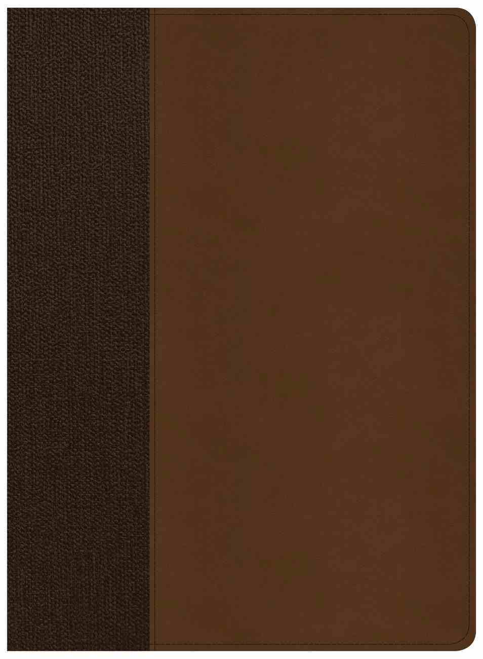 CSB Life Essentials Study Bible Brown Indexed (Black Letter Edition) Imitation Leather