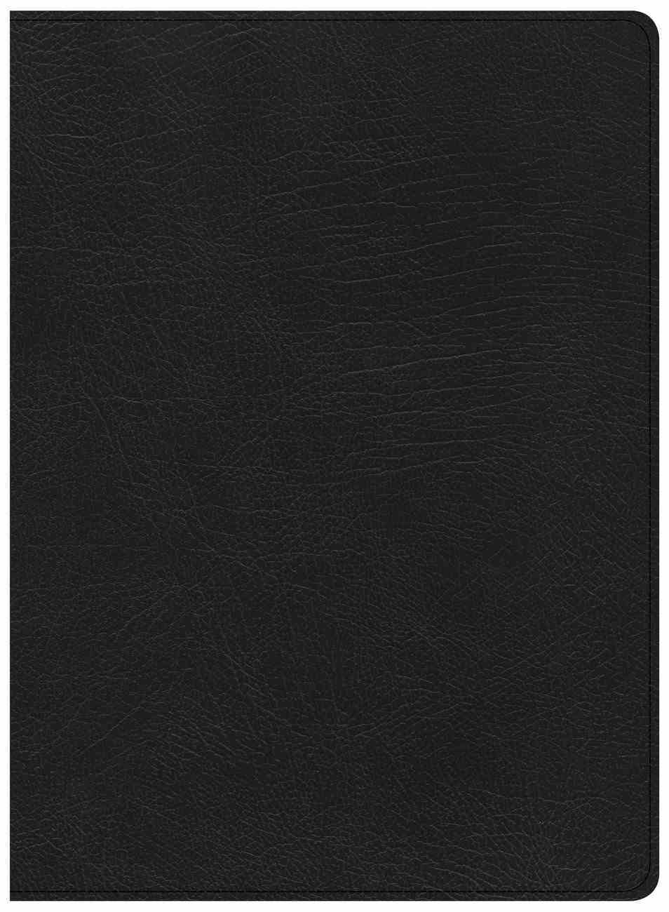 CSB Life Essentials Study Bible Black (Black Letter Edition) Genuine Leather