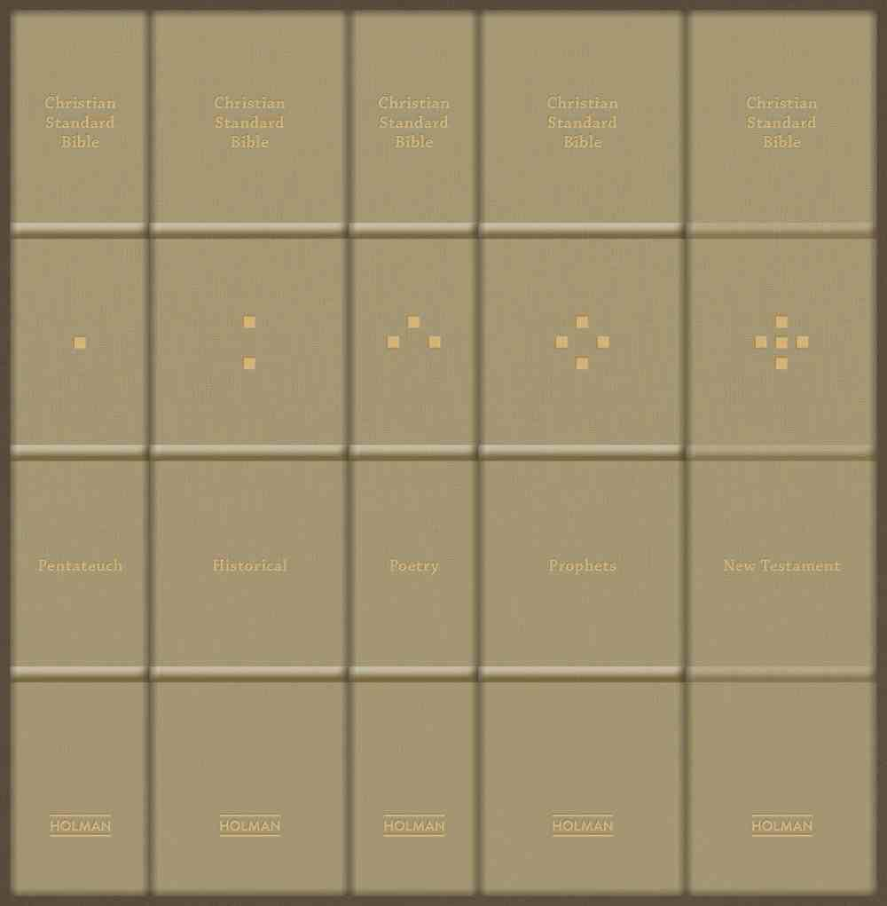 CSB Reader's Bible (5 Volume Collection) Fabric Over Hardback