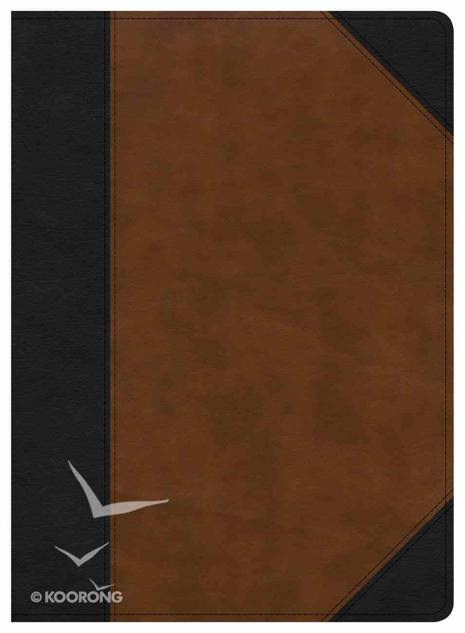 CSB Study Bible Black/Tan Indexed (Red Letter Edition) Imitation Leather
