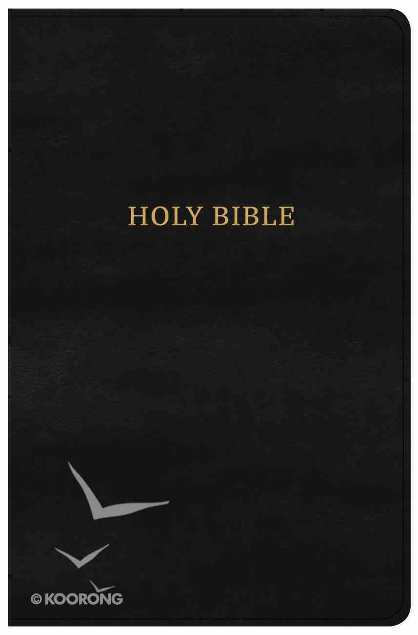 CSB Large Print Personal Size Reference Bible Black Classic Edition (Red Letter Edition) Imitation Leather