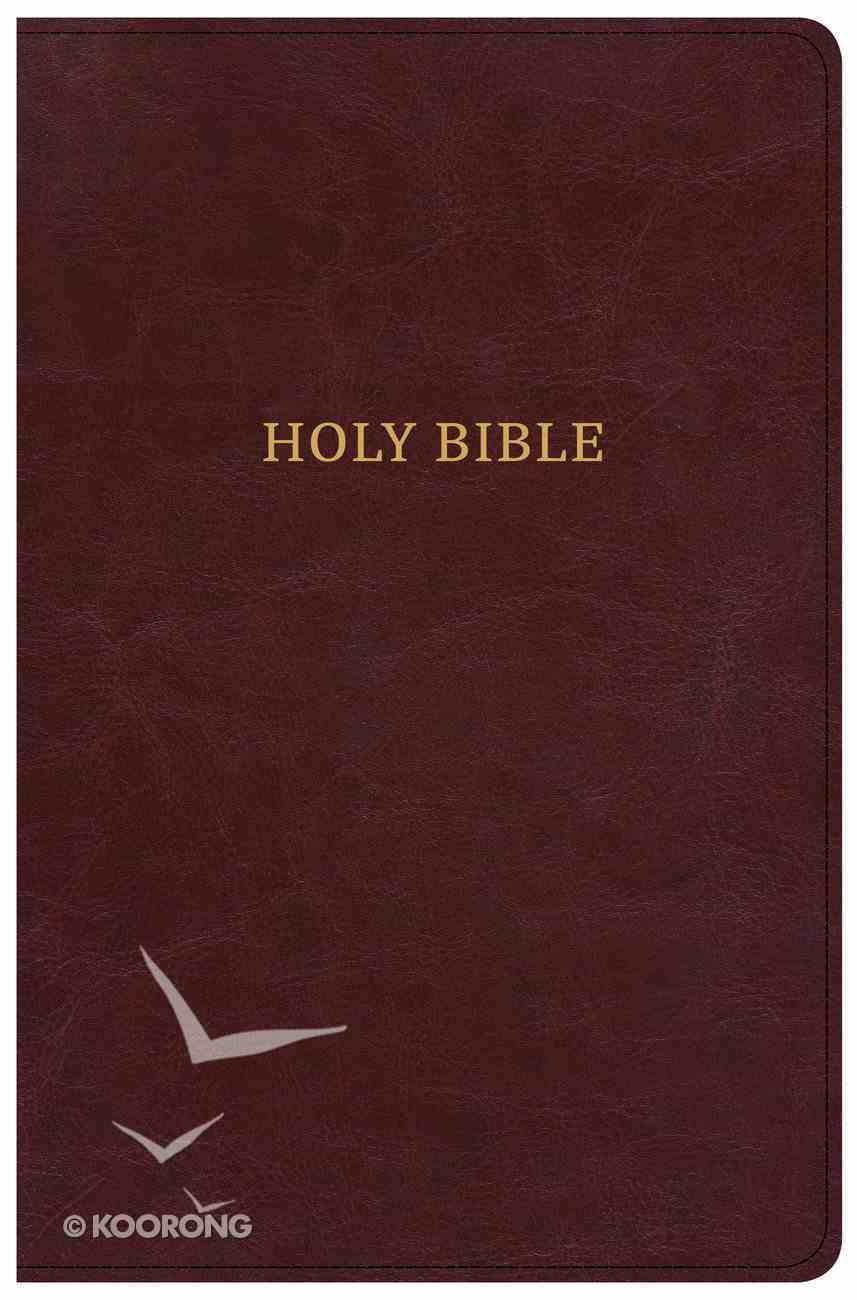 CSB Large Print Personal Size Reference Bible Burgundy Classic Edition (Red Letter Edition) Imitation Leather