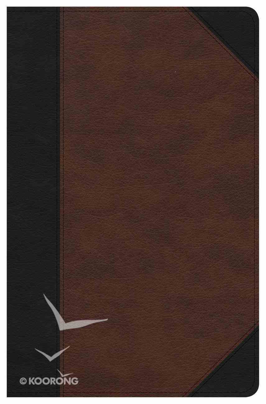 CSB Ultrathin Reference Bible Black/Tan Deluxe Edition (Red Letter Edition) Imitation Leather