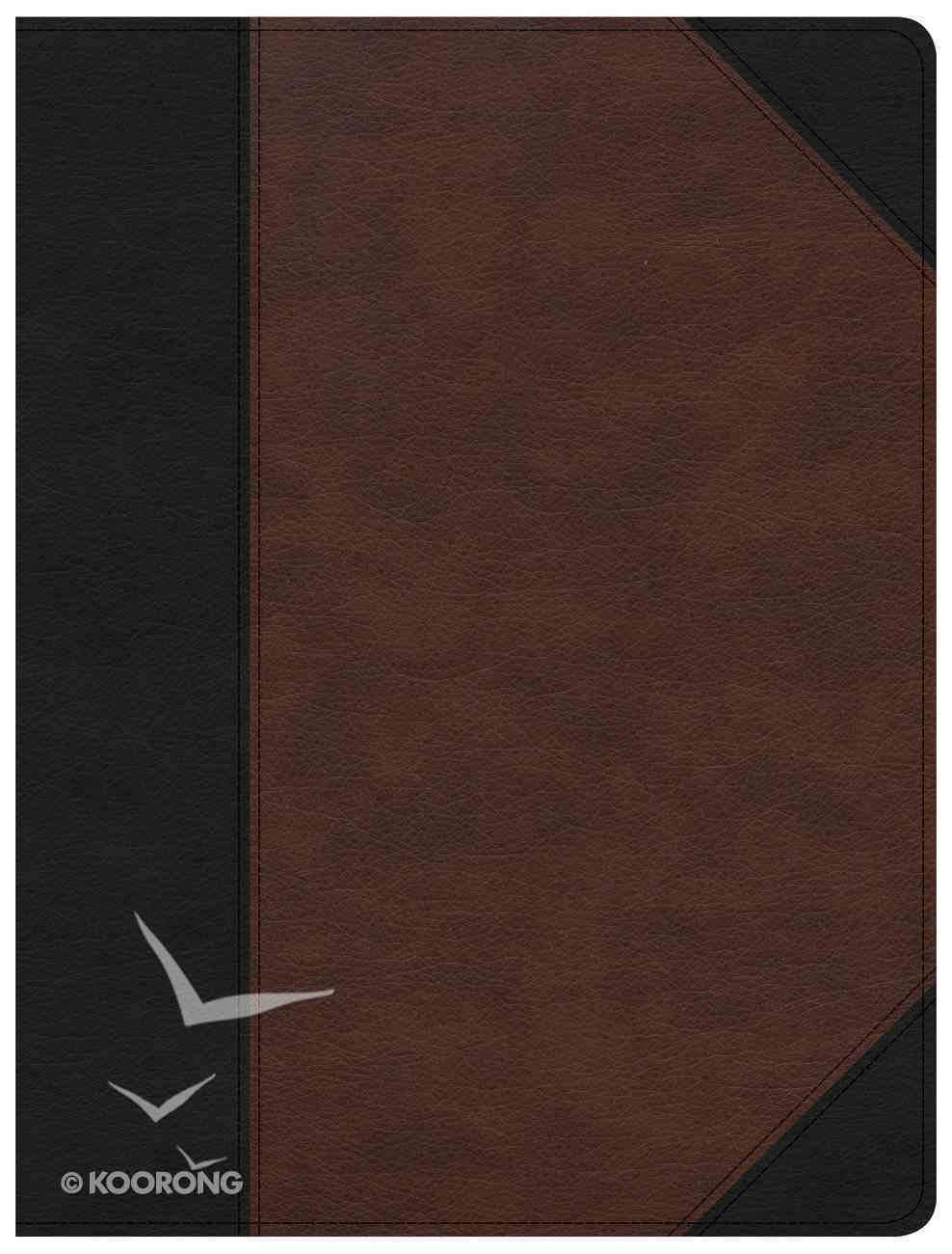 CSB Tony Evans Study Bible Black/Brown Indexed (Black Letter Edition) Imitation Leather