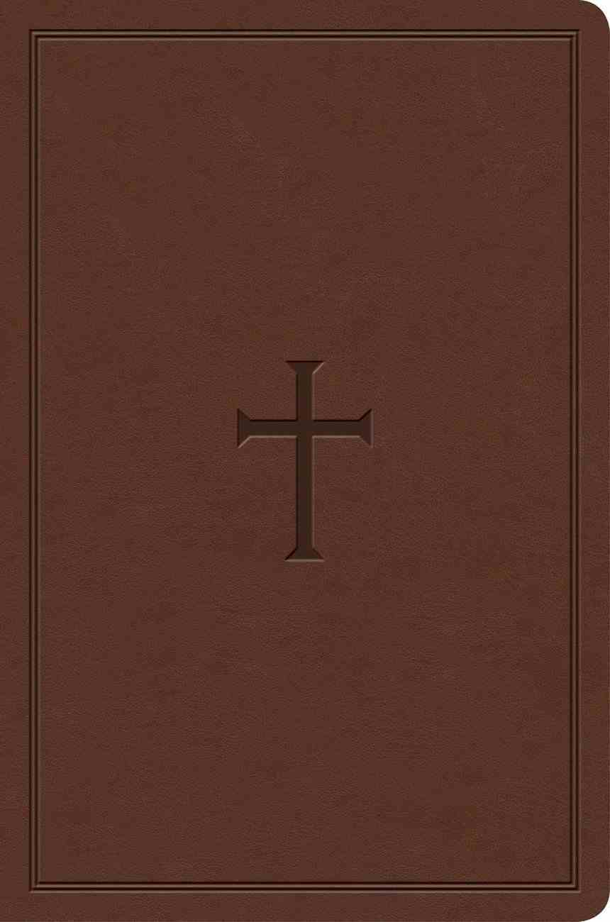 KJV Study Bible Personal Size Brown Cross Imitation Leather