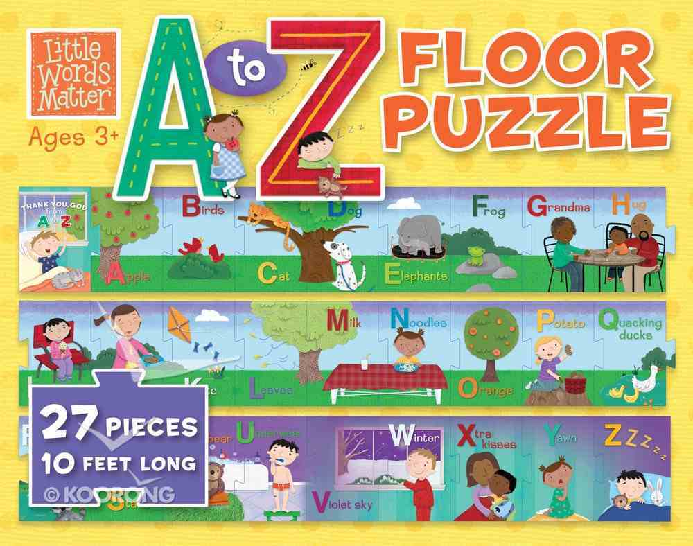 A to Z Floor Puzzle (Little Words Matter Series) Game