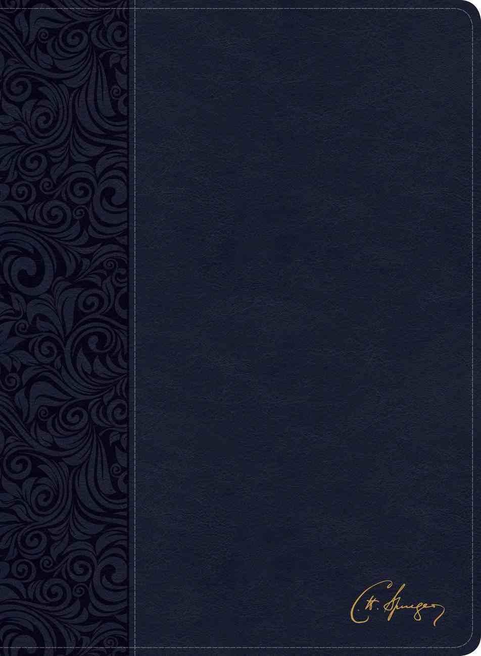 CSB Spurgeon Study Bible Navy (Black Letter Edition) Imitation Leather