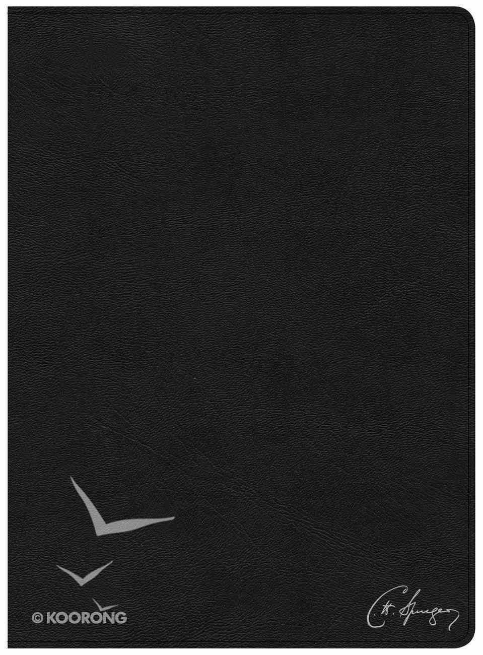 CSB Spurgeon Study Bible Black Genuine Leather