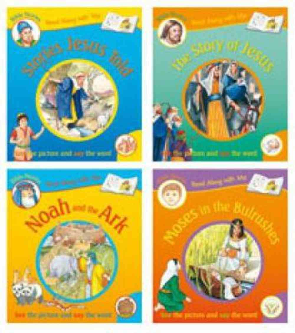 4 Assorted Titles (Read Along With Me Bible Stories Series) Paperback