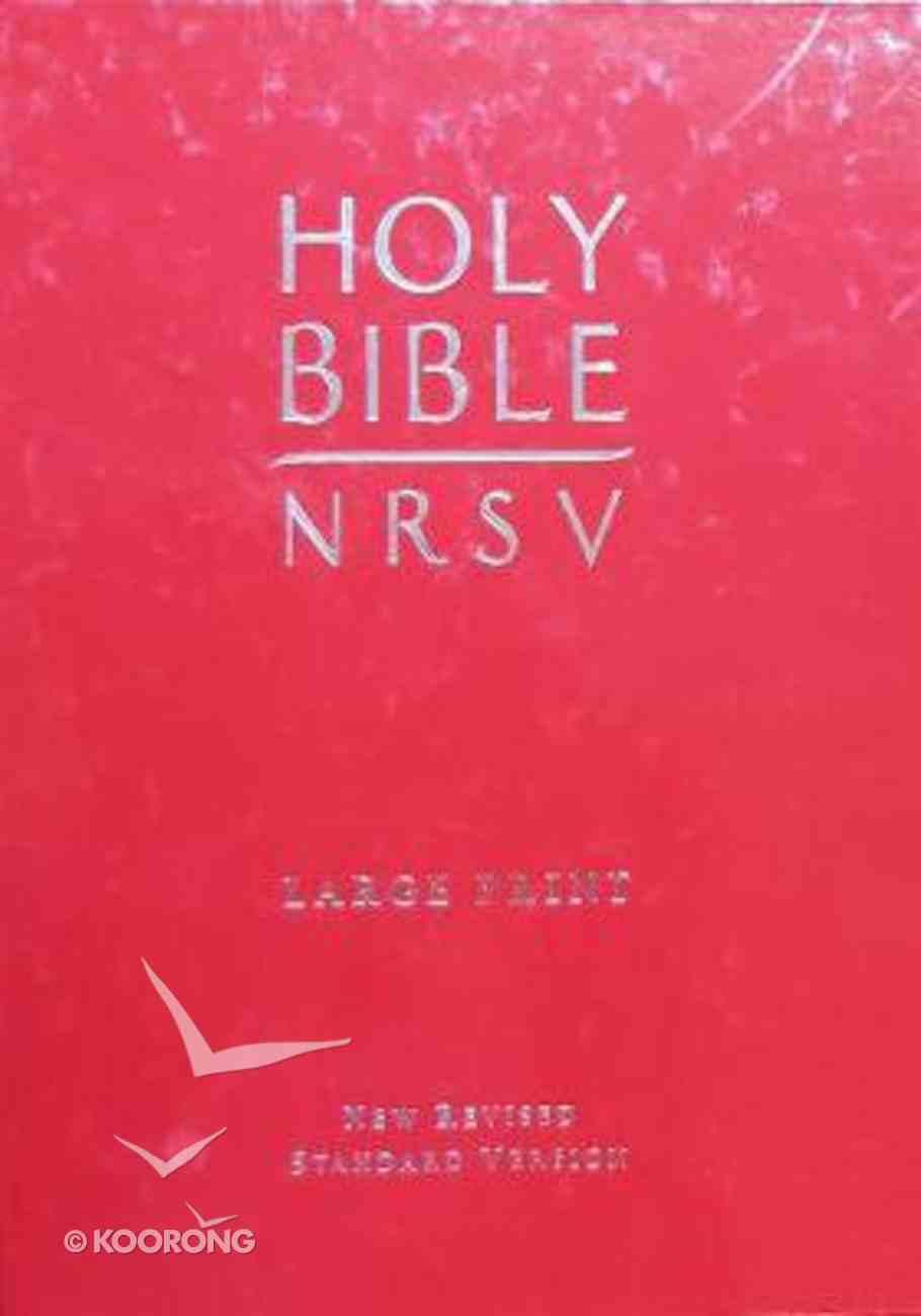 NRSV Large Print Red Hardback