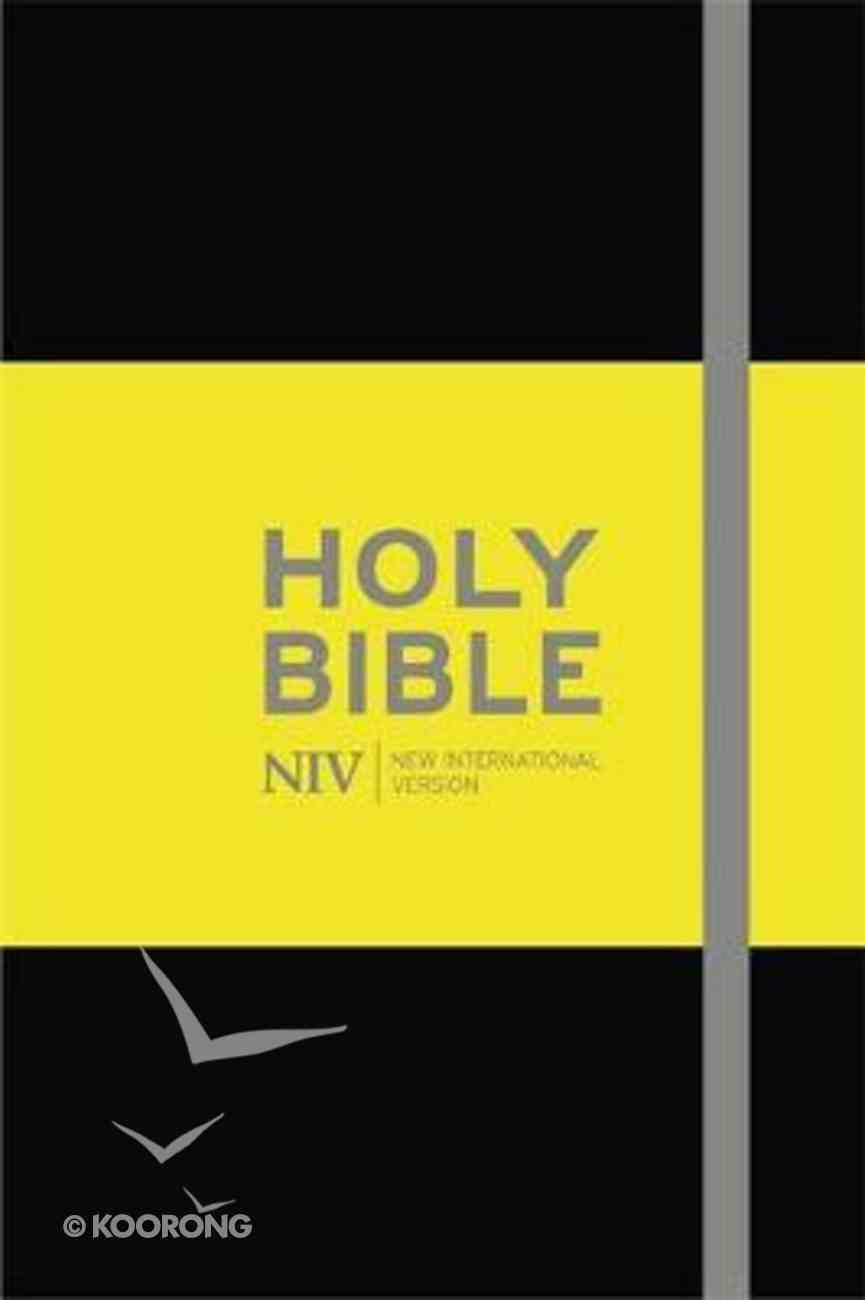 NIV Pocket Black Notebook Bible Hardback