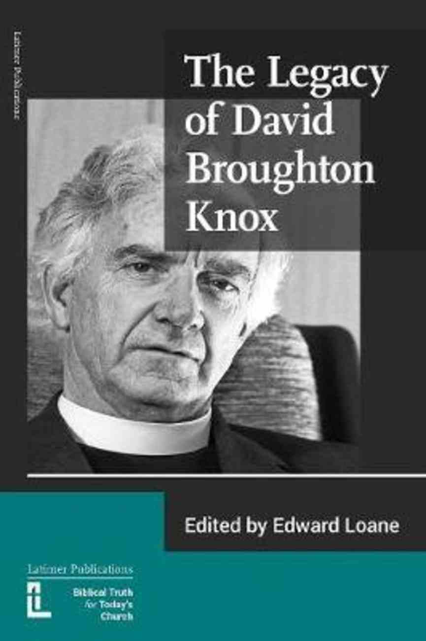 The Legacy of David Broughton Knox Paperback