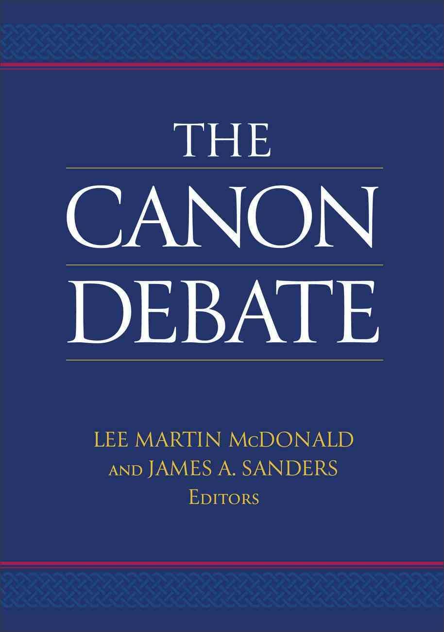 The Canon Debate Paperback