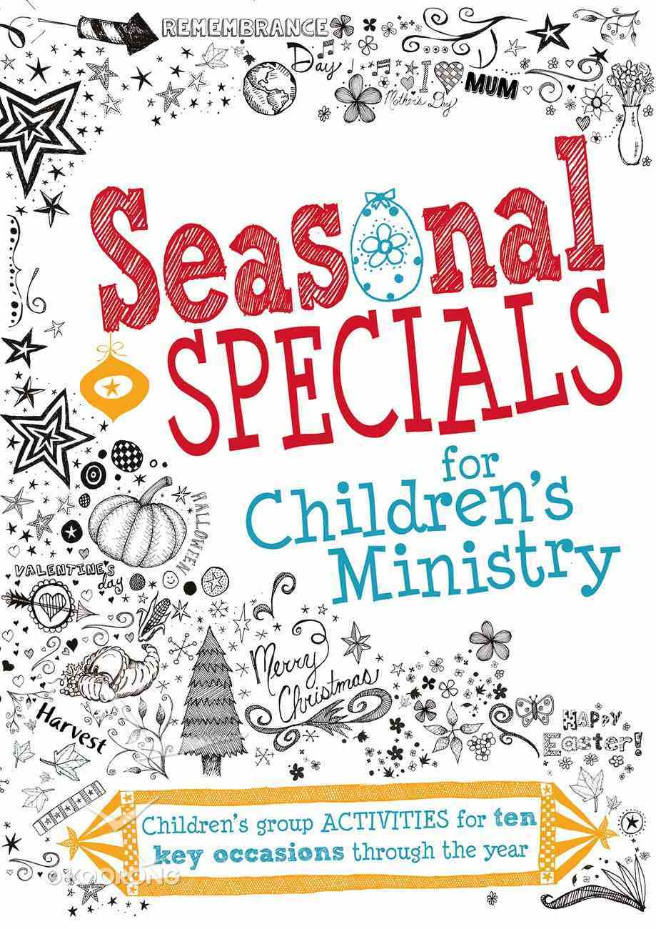 Seasonal Specials For Children's Ministry Paperback