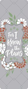 Product: Bookmark For I Know The Plans Image