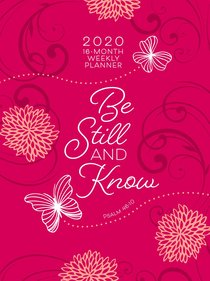 Product: 2020 16 Month Weekly Planner: Be Still And Know (Faux Ziparound) Image