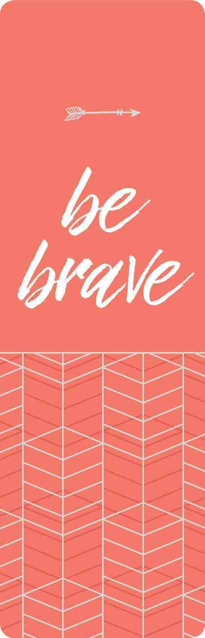 Bookmark Faux Leather: Be Brave Stationery